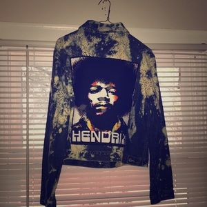 One of a Kind Jimi Hendrix Jean Jacket!!!